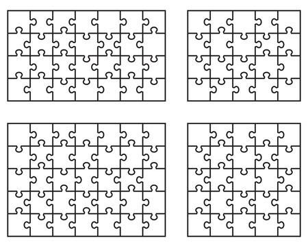 Illustrazione vettoriale di pezzi separati puzzle bianco Archivio Fotografico - 40980065