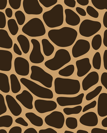 brown pattern: Brown pattern of leather of giraffe vector