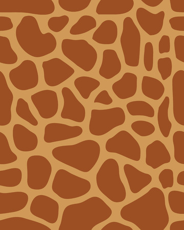 fur: Seamless pattern of leather of giraffe, vector illustration