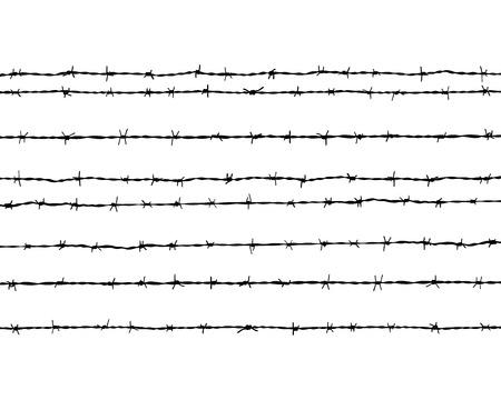 Negro silueta del alambre de púas Foto de archivo - 42867643