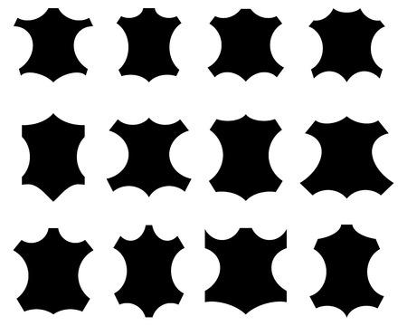 sign in: Leder-Zeichen in verschiedenen Formen, Abbildung