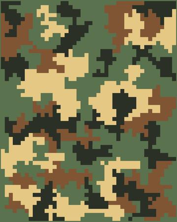 brown shirt: Digital camouflage seamless pattern, vector