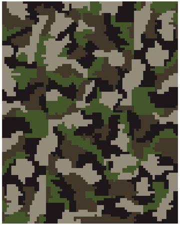 disruptive: Seamless pattern of digital  camouflage, vector Illustration