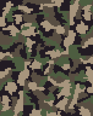 disruptive: Seamless pattern of digital camouflage, vector