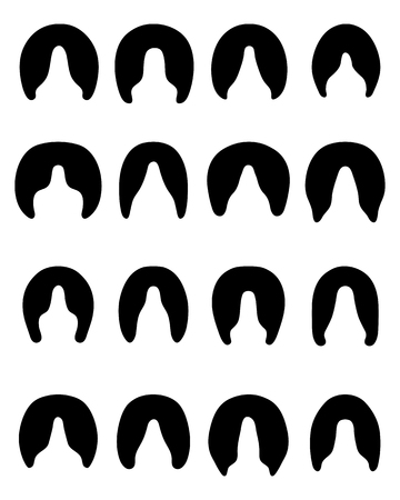 hooves: Black silhouettes of horses hooves on a white background