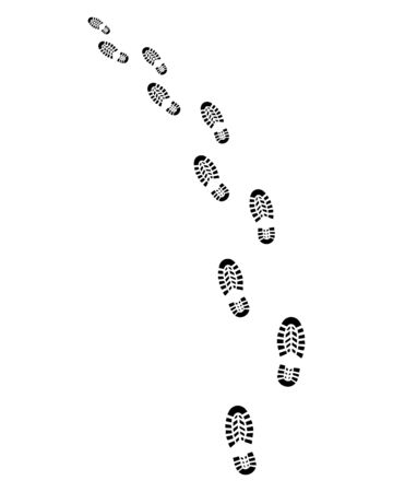 forensic: Trail of shoes prints, turn left