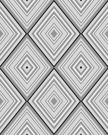 rhombus: Black and white rhombus seamless pattern Illustration