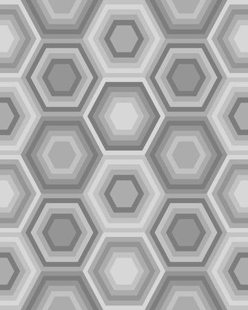 Geometric gray hexagon seamless pattern Ilustrace
