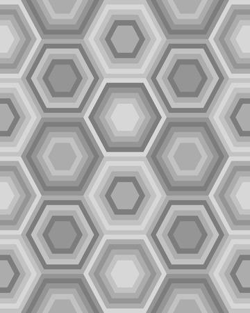 Geometric gray hexagon seamless pattern Illustration