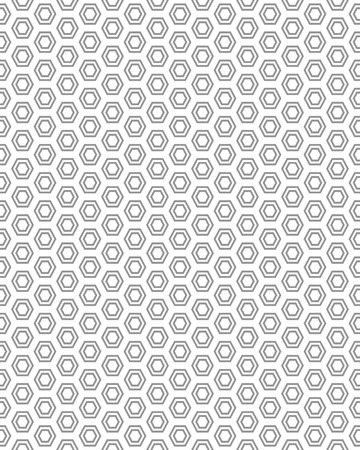 gray pattern: Seamless gray pattern with hexagons, vector Illustration