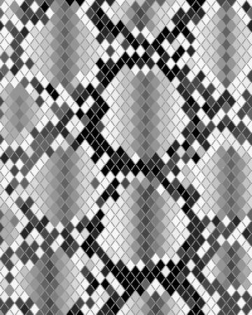 Illustration of gray skin of snake, textile pattern Archivio Fotografico - 132369676