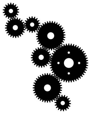 Black gears for teamwork symbolism Archivio Fotografico - 132369677