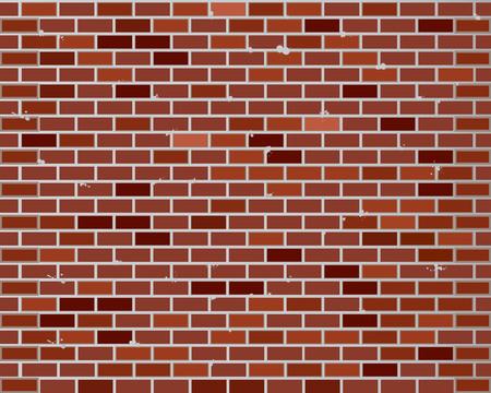 Parede de tijolo vermelho sem costura, padrão de textura para replicação contínua
