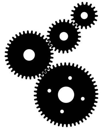 Black  gears for teamwork symbolism Archivio Fotografico - 132369456