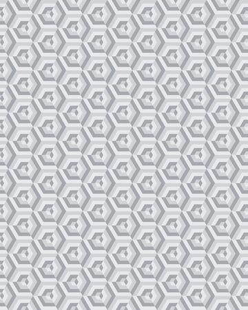 Geometric camouflage hexagon seamless pattern, vector illustration Archivio Fotografico - 132368860