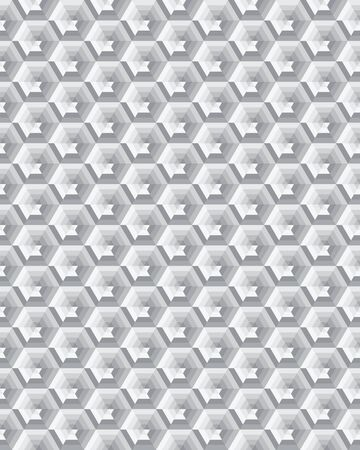 Geometric camouflage hexagon seamless pattern, vector illustration Archivio Fotografico - 132368862