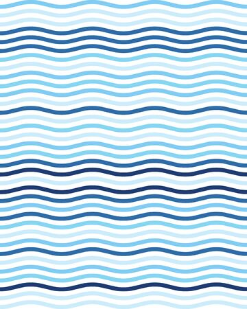 Seamless wavy lines simple pattern, abstract geometric background Vettoriali