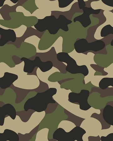 Nahtlose Vektorillustration des Tarnmusterhintergrunds. Militärische modische abstrakte geometrische Textur.