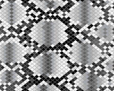 Gray pattern of snake skin, seamless illustration Archivio Fotografico - 142219826