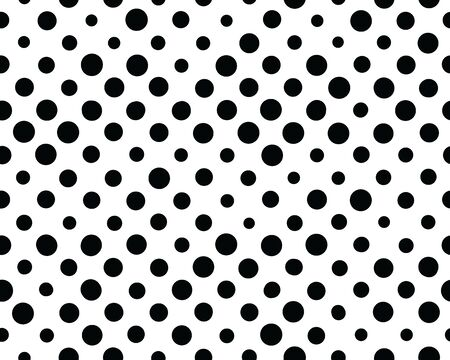 Seamless background with black dots on a white background Archivio Fotografico - 145318568