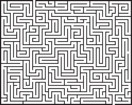 Illustration of big Maze / Labyrinth with entry and exit