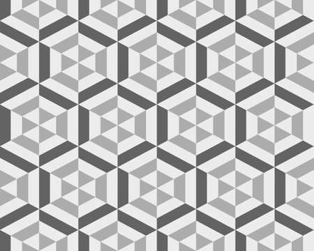 Geometric gray hexagon seamless pattern, abstract  background
