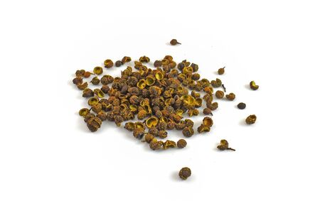 Dried Sichuan pepper isolated on a white background 版權商用圖片