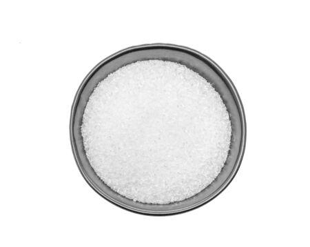 MonosodiumGlutamate (MSG or E621) in black bowl. Stock Photo