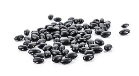 black bean on white background. Imagens