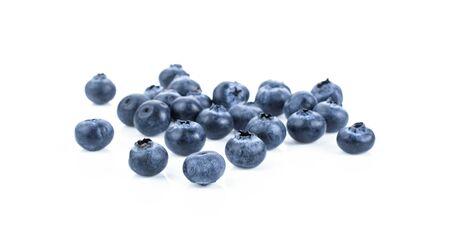 Fresh blueberry isolated on white background . 스톡 콘텐츠