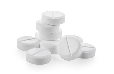 paracetamol drug on white background