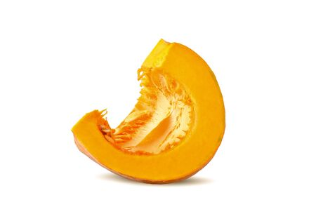 fresh pumpkin on white background.