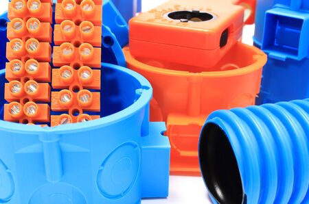 junction pipe: Electrical boxes and components for use in electrical installations, accessories for engineering jobs