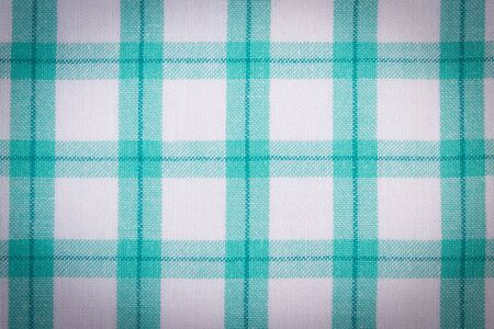 checkered tablecloth: checkered tablecloth texture as backdrop Stock Photo