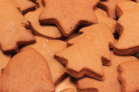 gingerbread cookies: Fresh baked homemade Christmas cookies and gingerbread, christmas time Stock Photo