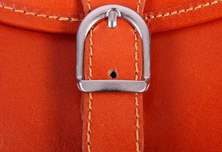 womanly: Closeup of metal clasp handbag, detail of womanly handbag Stock Photo