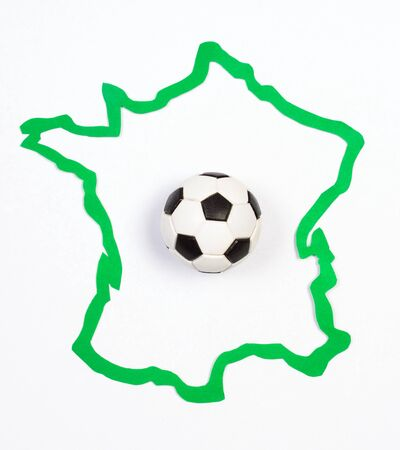 contour: Soccer ball on contour France