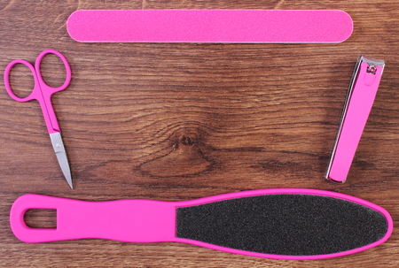 nail file: Accessories for manicure or pedicure, nail file, scraper, scissors, nail clippers