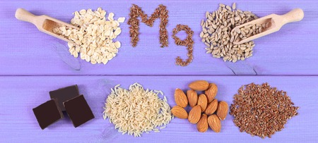 Inscription Mg, ingredients, products containing magnesium or dietary fiber, healthy nutrition
