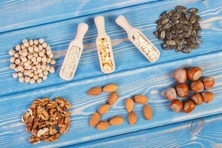 碑文 Zn、成分や亜鉛、食物繊維、ミネラル、健康的なライフ スタイルと栄養の自然な源を含む製品