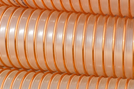 Plastic corrugated pipe for industrial technology