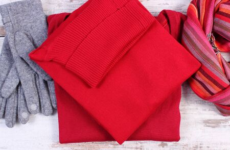 Womanly clothes, gloves shawl sweater, warm clothing for autumn or winter