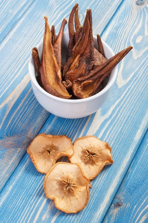 Dried pear and apple for preparing beverage or compote of dried fruits, healthy nutrition concept Banque d'images