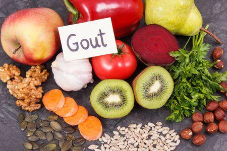 Bestes gesundes nahrhaftes Lebensmittel zur Behandlung von Gichtentzündungen und für die Gesundheit der Nieren
