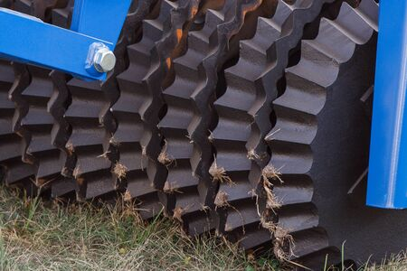 Part and detail of agricultural machinery. Concept of modern technology in agriculture Stok Fotoğraf
