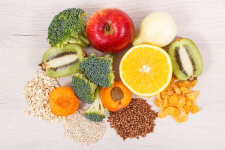 Healthy food as source vitamin PP and B3, dietary fiber and other natural minerals Stock Photo