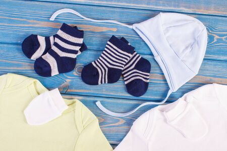 Clothing for newborn, concept of expecting for baby and extending family