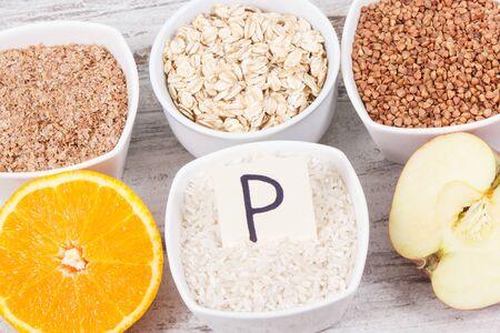 Healthy food as source natural minerals, vitamin P and dietary fiber Zdjęcie Seryjne