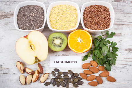 Best nutritious food for healthy thyroid. Natural eating containing vitamins and minerals