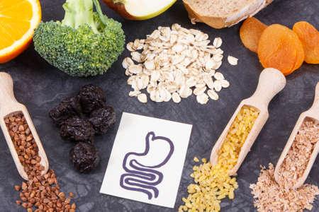 Best nutritious products and ingredients for gastric problems. Source natural minerals, vitamins and dietary fiber